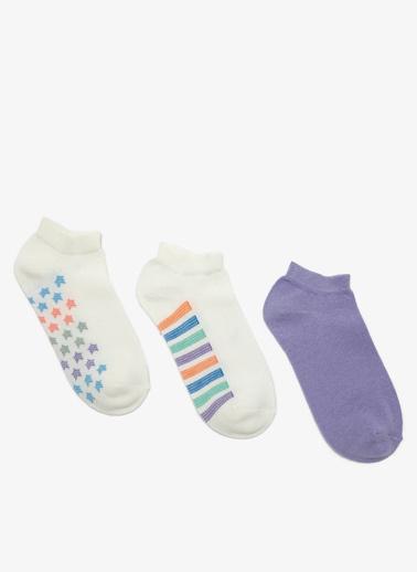 Koton 3'lü Çorap Mor